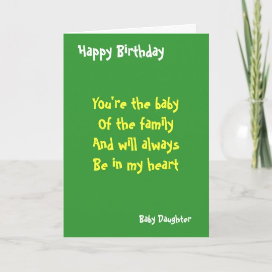 Baby Daughter Birthday Card
