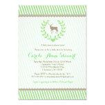 Baby Deer Baby Shower Invitation - Green neutral