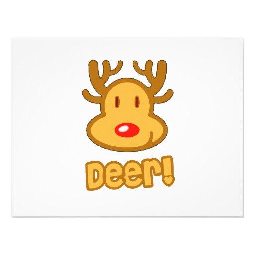 Baby Deer Cartoon Invitation