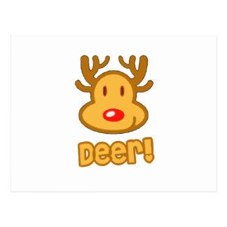 Baby Deer Cartoon Postcards