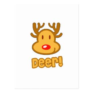Baby Deer Cartoon Postcard