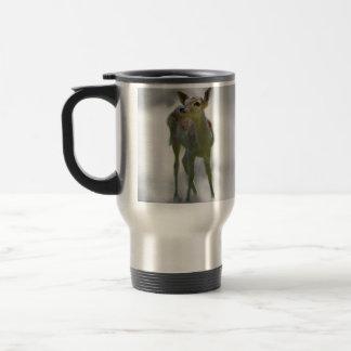 Baby deer's curiosity travel mug