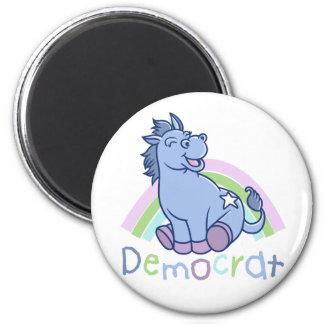 Baby Democrat Donkey 6 Cm Round Magnet