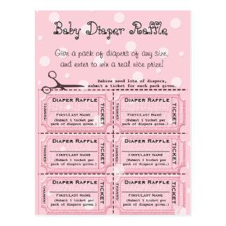 Baby Diaper Raffle Tickets Postcard