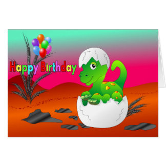 Baby dino wishes card