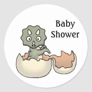 Baby Dinosaur Baby Shower Envelope Sticker