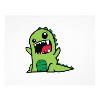 Baby dinosaur cartoon 21.5 cm x 28 cm flyer