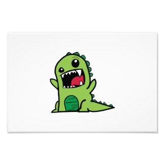 Baby dinosaur cartoon photographic print