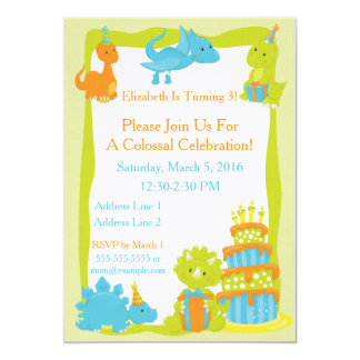 Baby Dinosaur Party Invitation
