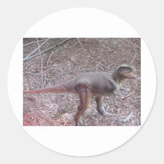 baby dinosaur round sticker