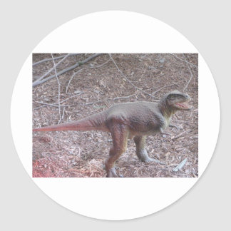 baby dinosaur classic round sticker