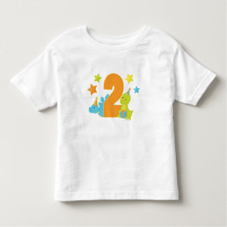 Baby Dinosaurs Two Year Old Birthday Shirt