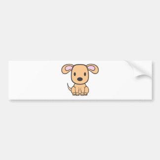 Baby Dog Cartoon Bumper Stickers