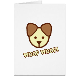 Baby Dog Cartoon Greeting Card