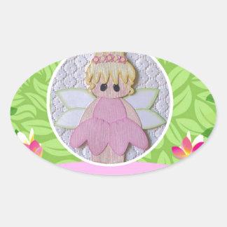 baby doll oval sticker