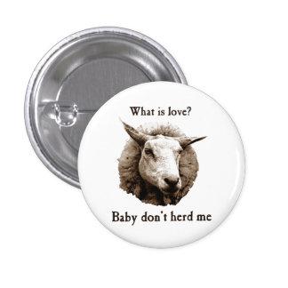 Baby Don't Herd Me Sheep 3 Cm Round Badge