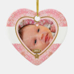 Baby Double Sided Photo Heart Frame