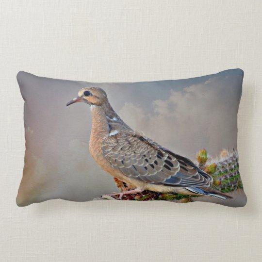 Baby Dove on Golden Rod Accent Lumbar Pillow