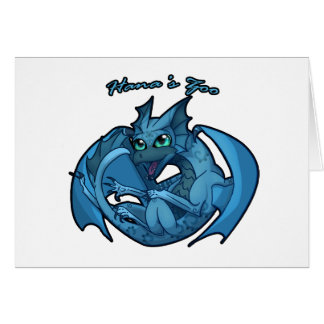 Baby Dragon 3 Swirl Card
