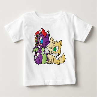 Baby Dragon and wolf Baby T-Shirt