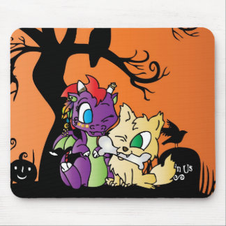 Baby Dragon and wolf Mouse Mat