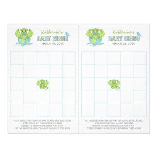 Baby Dragon Bingo sheet with 2 game cards 21.5 Cm X 28 Cm Flyer