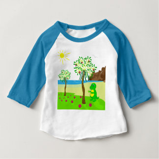 Baby dragon collects fruit baby T-Shirt