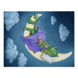 Baby Dragon Dreaming Poster