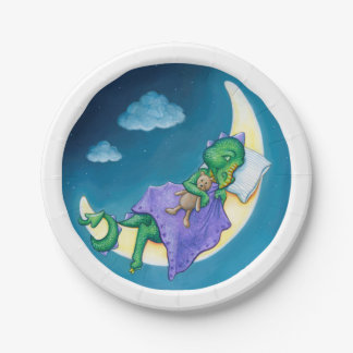 Baby Dragon Dreams paper plate