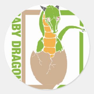 Baby Dragon egg design Round Sticker