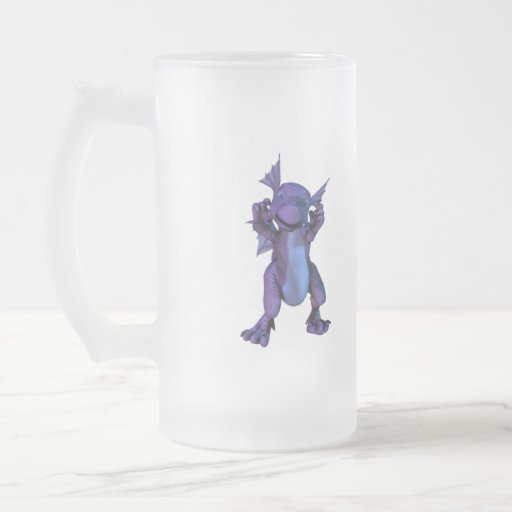 Baby Dragon Frosted Beer Mug