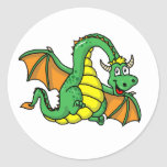 Baby Dragon Round Sticker