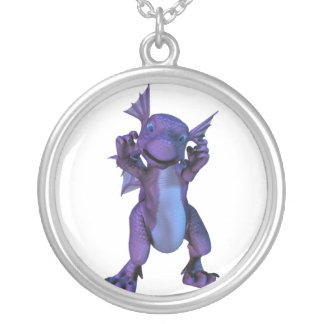 Baby Dragon Sterling Silver Necklace