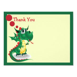 Baby Dragon Thank You Card 11 Cm X 14 Cm Invitation Card