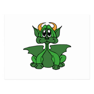 Baby Dragon With Horns Post Card