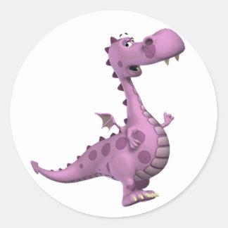 Baby Dragons: Smoky, Vl. 2 Round Sticker
