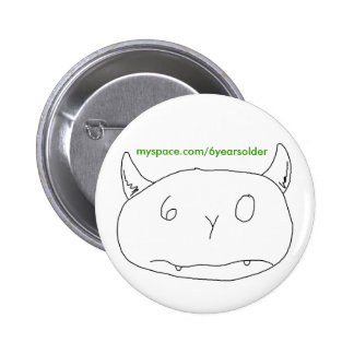 Baby drew a monster 6 cm round badge