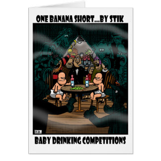 Baby Drinking Competition Greeting Card
