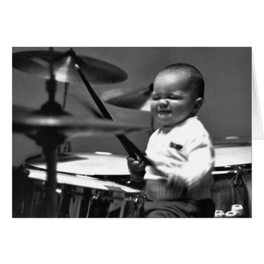 Baby Drummer Note Card