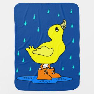 Baby Duck blankie Receiving blue Blanket Buggy Blankets