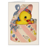 Baby duck ~ card for boy or girl