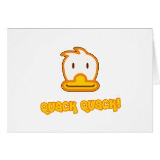 Baby Duck Cartoon Greeting Card