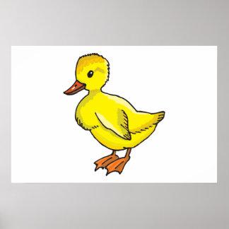Baby duck cartoon print