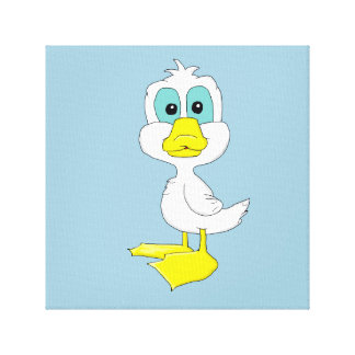 Baby duck design stationery canvas print