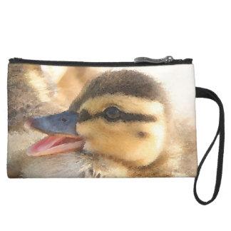 Baby Duck Duckling Bird Wildlife Animals Bag Wristlet