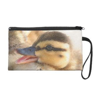 Baby Duck Duckling Bird Wildlife Animals Bag Wristlets