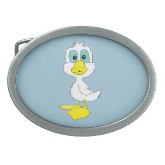Baby duck oval belt buckle