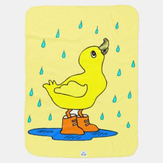 Baby duck rain blankie Receiving Yelllow Blanket Buggy Blankets