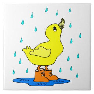 Baby duck ceramic tile