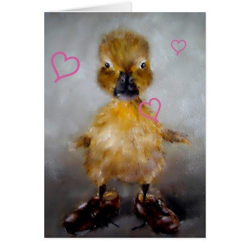 Baby Duck Valentine's Day Card